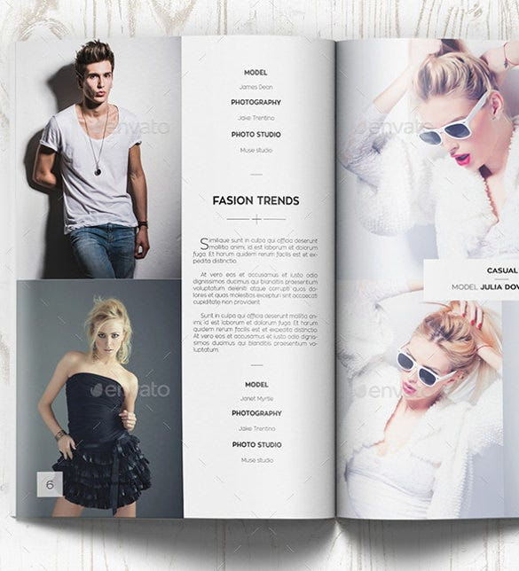 fashion photography brochure