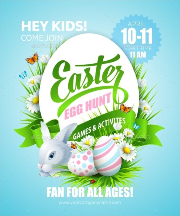 easter poster vector eps template download