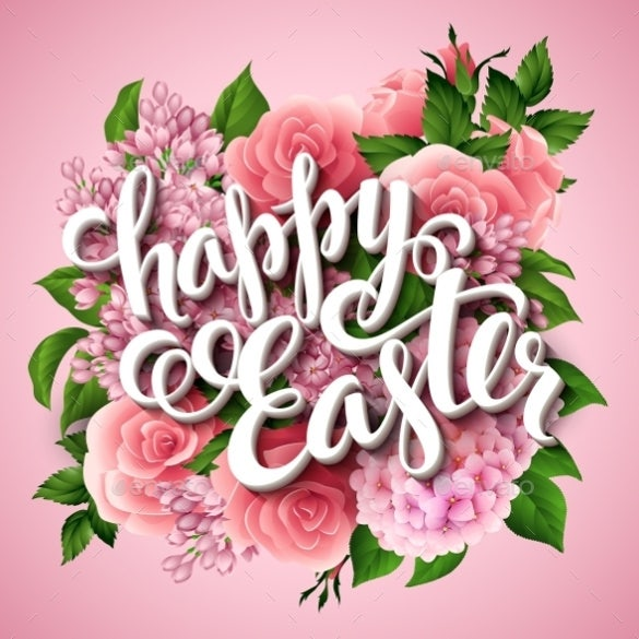 easter poster eps template download