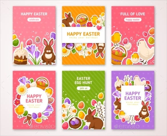 happy easter posters template download