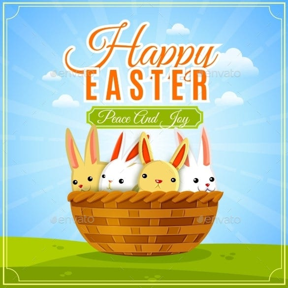 easter poster illustration template download
