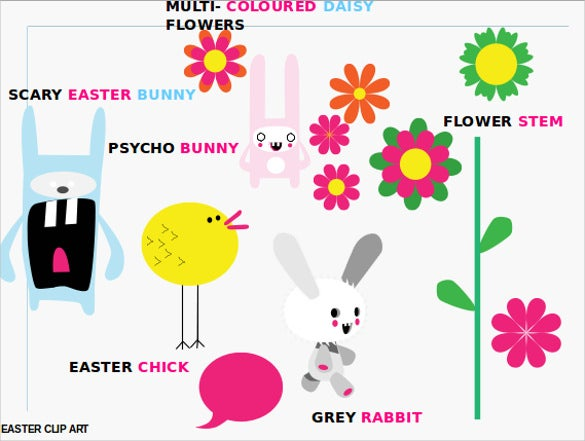 ppt format happy easter template free download