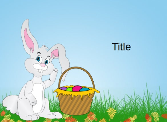Beautiful Sample Of A Happy Easter Powerpoint Template Free Download