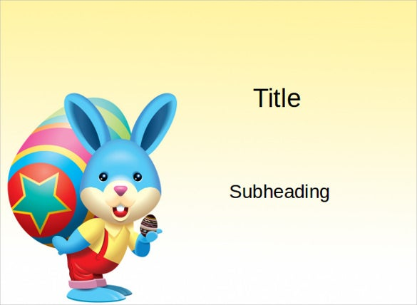 easter rabbit ppt format free download1