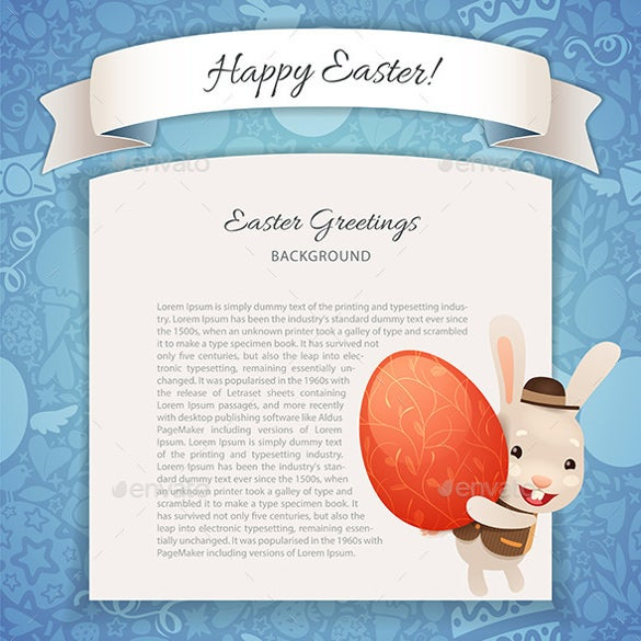 happy easter poster with banny download