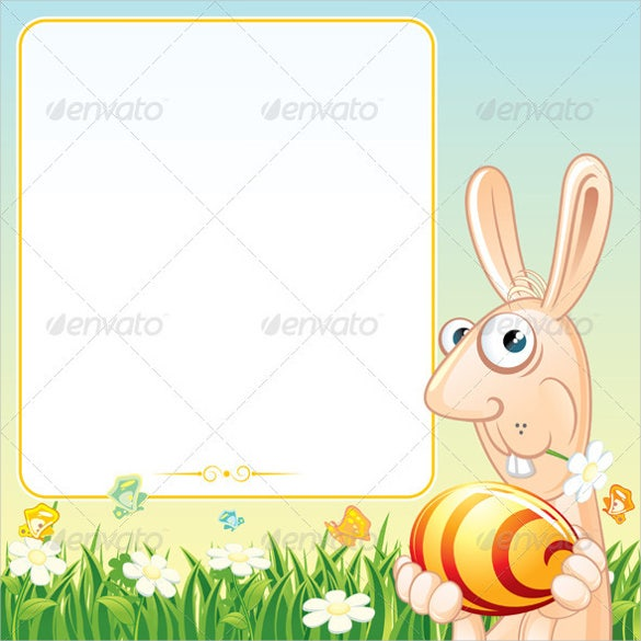 easter poster with bunny template download