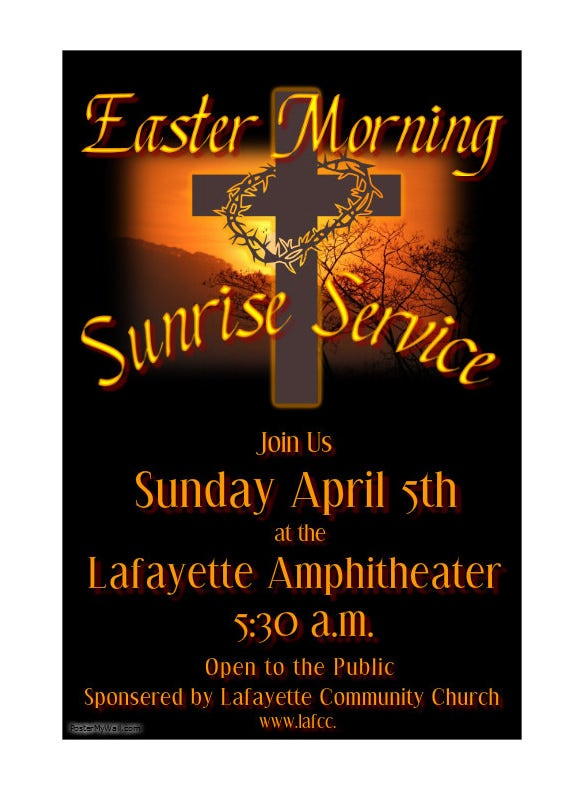 sunrise easter poster template download