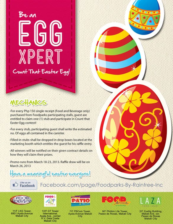 Easter poster template free