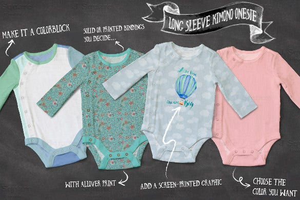 baby onesie bodysuit template