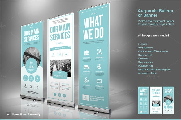 rollup banner design template