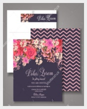 Print Ready Wedding Invitation Template