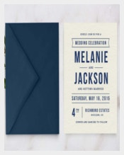 Simple & Clear Wedding Invitation Template