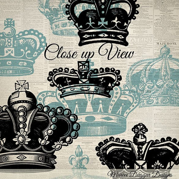 vintage crowns brushes for photoshop
