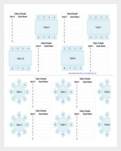 Wedding Chart Template PDF Format