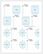 Wedding Chart Template PDF Format
