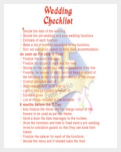Perfectly Planed Wedding Checklist Template