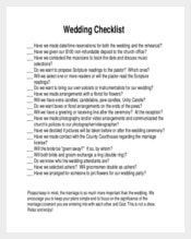 Ready To Print Wedding Checklist Template
