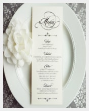 Easy To Download Wedding Menu