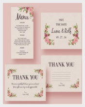 Ready To Print Wedding Menu Template