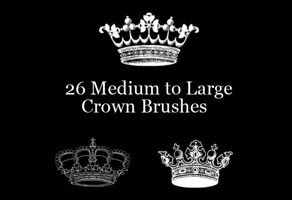 26 medium to large crown brushes