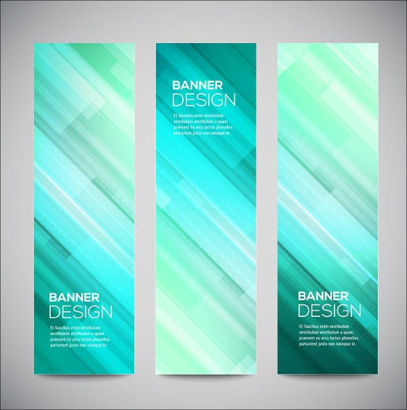 glowing banner design template