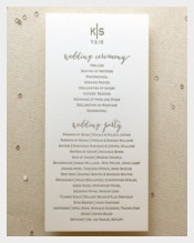 Simple & Clear Wedding Ceremony Template