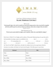 Printable Wedding Contract Template