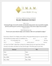 Printable Wedding Contract Template