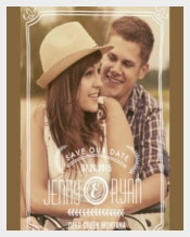 Save The Date Wedding Announcement Template