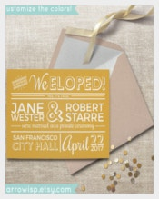 Simple Wedding Announcement Template