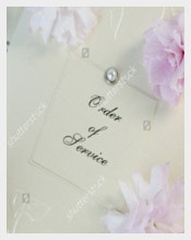 Elegant Wedding Order of Service Template