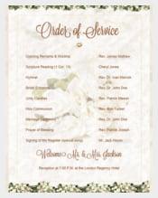 Sample Wedding Order of Template