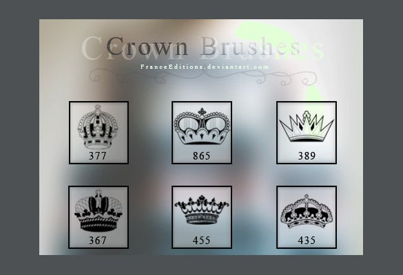 set of 6 crown photoshop brushes download