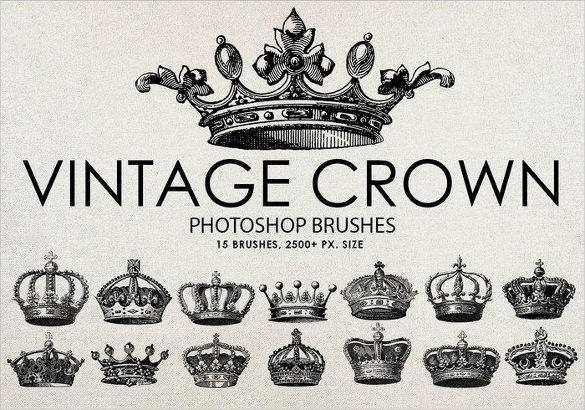 15 vintage crown brushes free download