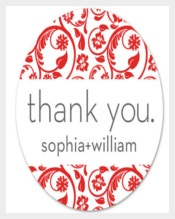 Thankyou Wedding Label Sticker