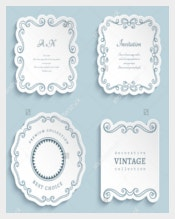 Vector Wedding label Templates
