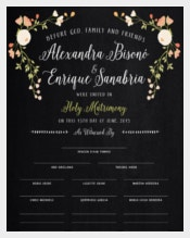 Colorful Background Wedding Certifcate Template