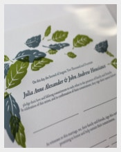 Hand Painted Wedding Certificate Template