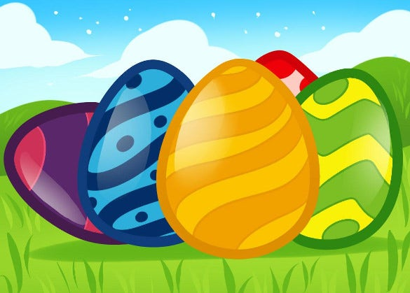 free download easter eggs drawing for kids