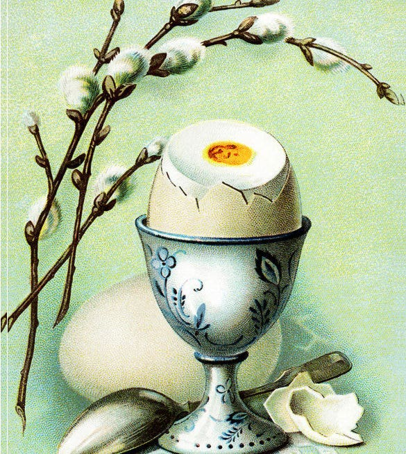 happy easter vintage drawing download