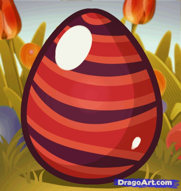 draw an easter egg colorful printable