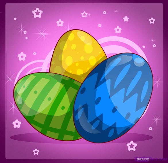 free printable download easter eggs drawings