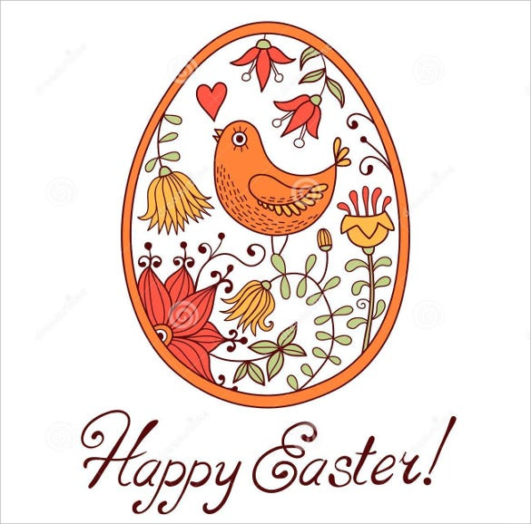 download easter egg drawn hand style cartoon
