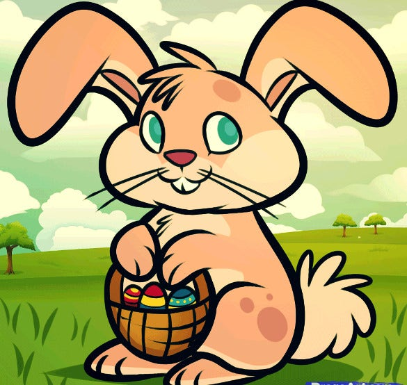 easter rabbit drawing free download