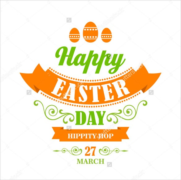 happy easter example poster template download