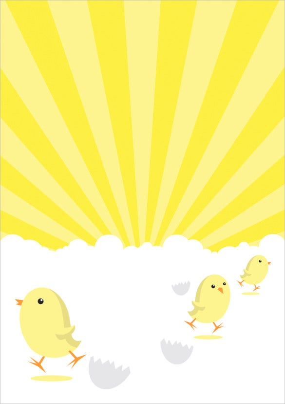 easter chicks poster background format free download1