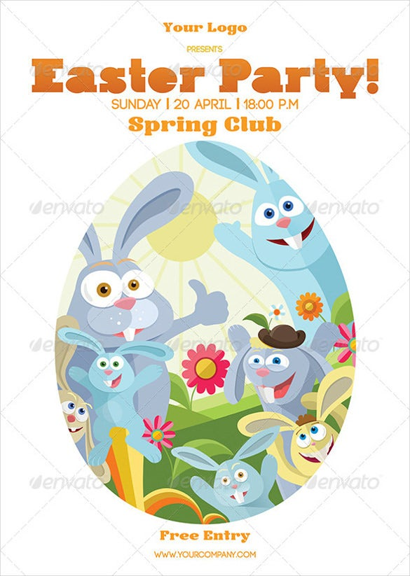 photoshop format easter poster template