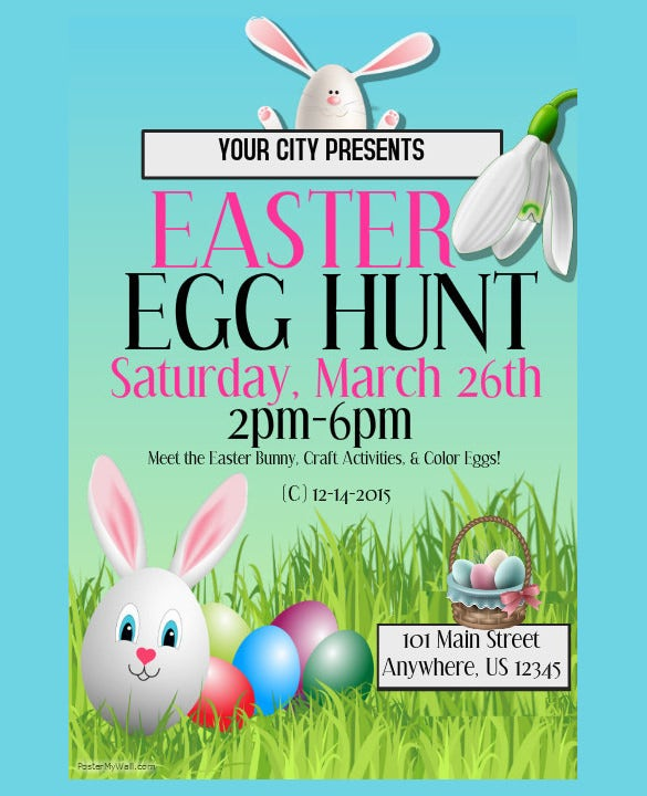 sample of easter poster template