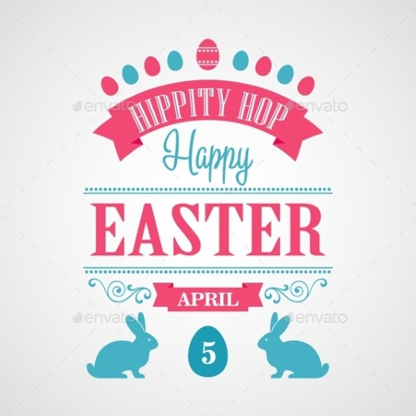 vector eps format easter poster download