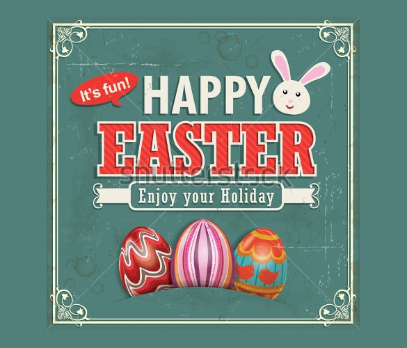 vintage easter example poster download